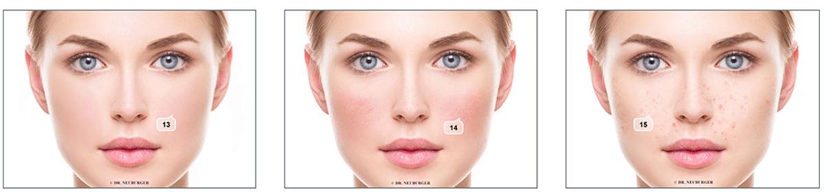 Organe Lesen Gesichtszeichen