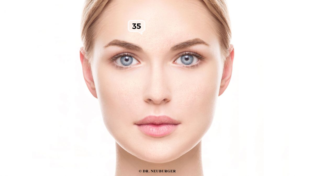 Großporige Haut, schwammige Haut an der Stirn, Nase, Wange